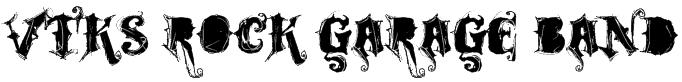 VTKS ROCK GARAGE BAND Font