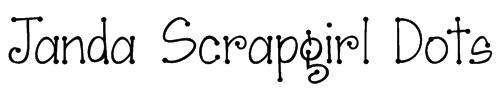Janda Scrapgirl Dots Font