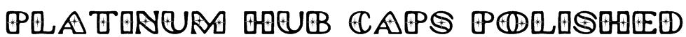 Platinum Hub Caps Polished Font