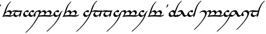 Tengwar Annatar Bold Italic Font