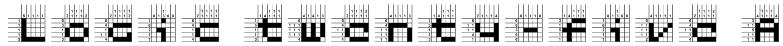 Logic twenty-five A Font