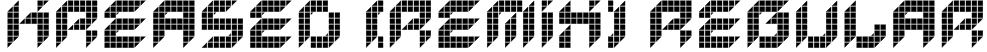 Kreased (Remix) Regular Font