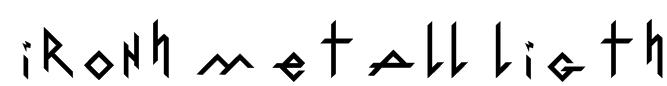 IronH Metall Ligth Font