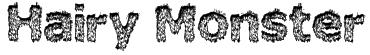 Hairy Monster Font