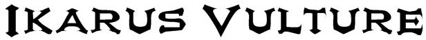 Ikarus Vulture Font