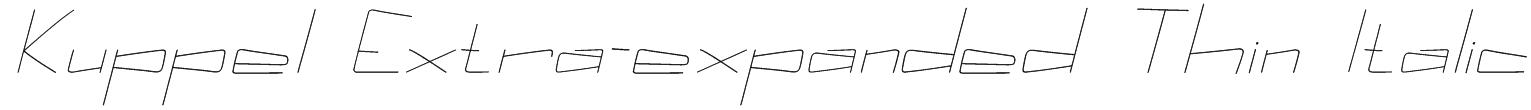 Kuppel Extra-expanded Thin Italic Font