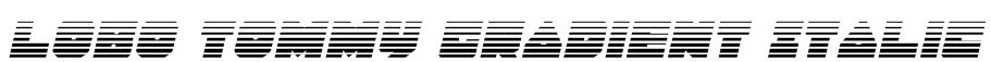 Lobo Tommy Gradient Italic Font