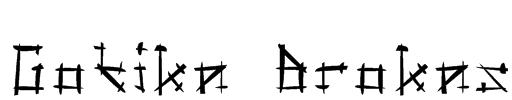 Gotika Brokas Font
