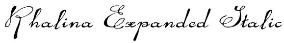 Rhalina Expanded Italic Font