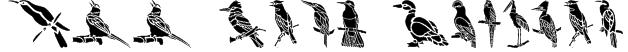 HFF Bird Stencil Font