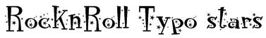 RocknRoll Typo stars Font