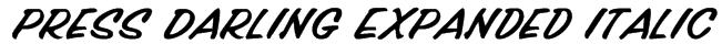 Press Darling Expanded Italic Font