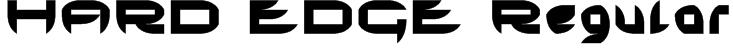 HARD EDGE Regular Font