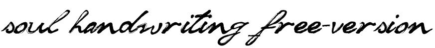 soul handwriting_free-version Font