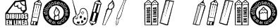 dibujos en linea Font