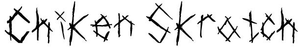 Chiken Skratch Font