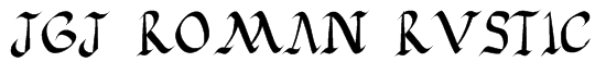 JGJ Roman Rustic Font