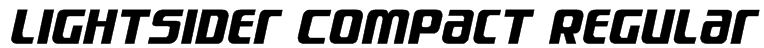 Lightsider Compact Regular Font