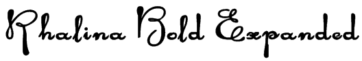 Rhalina Bold Expanded Font