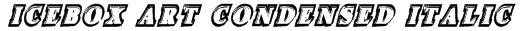 Icebox Art Condensed Italic Font