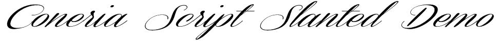 Coneria Script Slanted Demo Font
