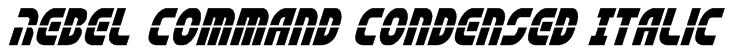 Rebel Command Condensed Italic Font