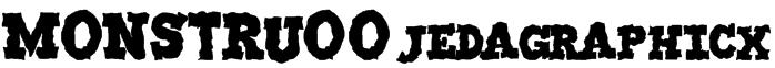 MONSTRUO-jedagraphicx Font