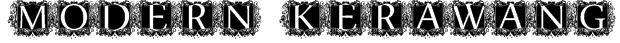 modern kerawang Font