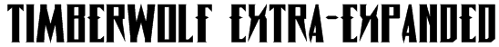 Timberwolf Extra-expanded Font