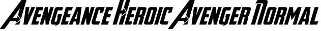 Avengeance Heroic Avenger Normal Font