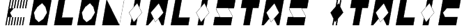 Colonialistas Italic Font