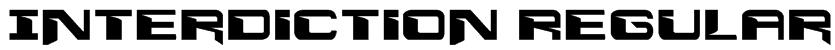Interdiction Regular Font