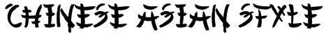 Chinese Asian Style Font