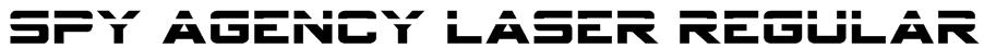 Spy Agency Laser Regular Font