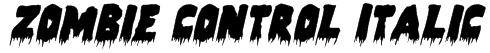Zombie Control Italic Font