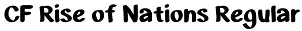 CF Rise of Nations Regular Font
