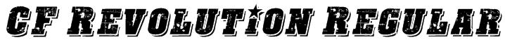 CF Revolution Regular Font