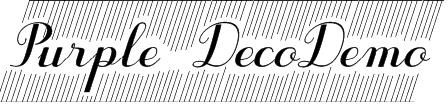 Purple DecoDemo Font