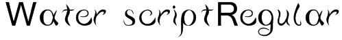 Water scriptRegular Font