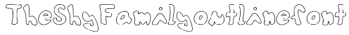 TheShyFamilyoutlinefont Font
