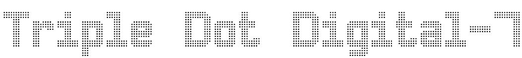 Triple Dot Digital-7 Font