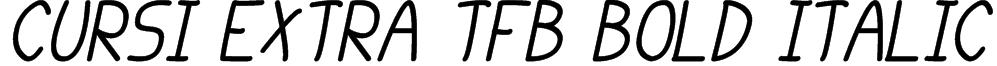 cursi extra tfb bold Italic Font