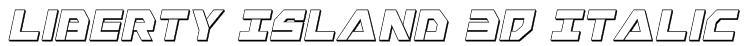 Liberty Island 3D Italic Font