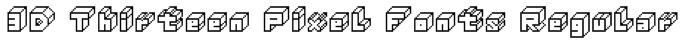 3D Thirteen Pixel Fonts Regular Font