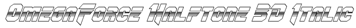 OmegaForce Halftone 3D Italic Font