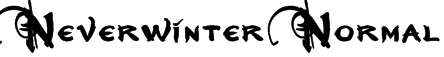 Neverwinter  Normal Font