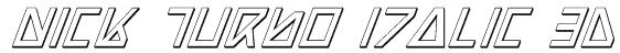 Nick Turbo Italic 3D Font