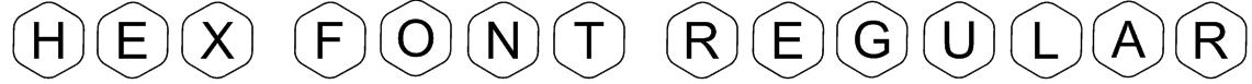 HEX Font Regular Font