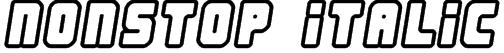Nonstop italic Font