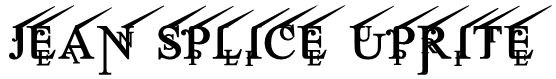 Jean Splice UpRite Font